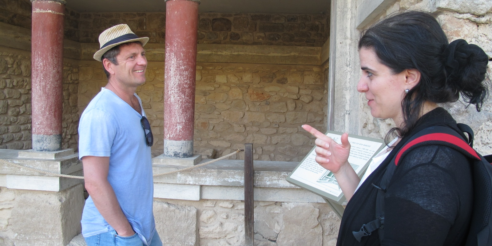 Eric and Katarina in Knossos